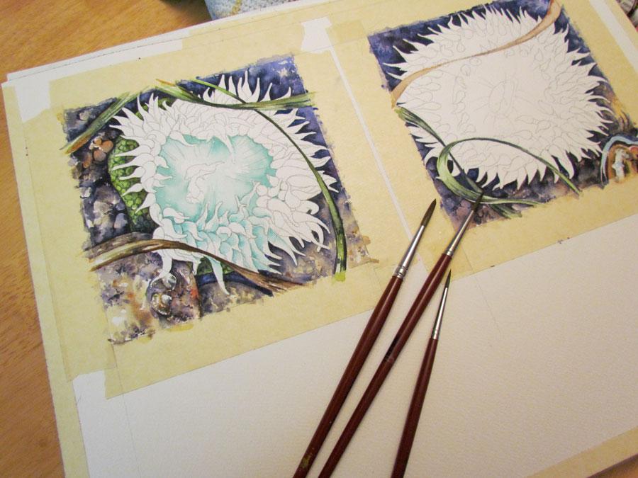 the watercolour process