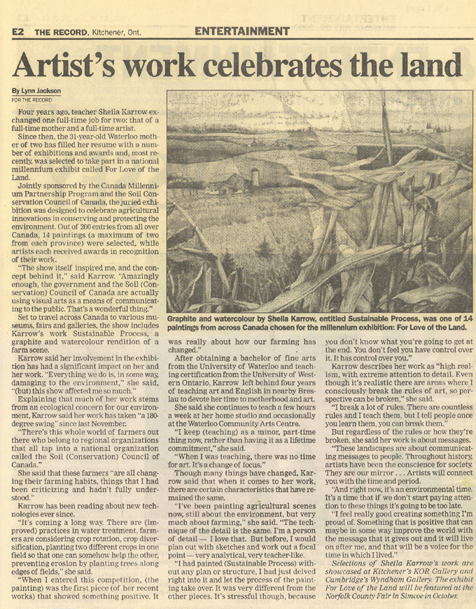 The Kitchener-Waterloo Record, July 2000